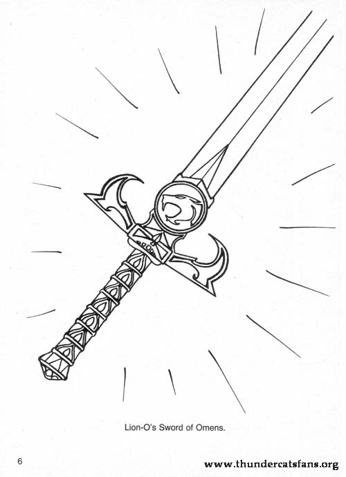 sword of omens identicle swords crossword page - Thundercats Coloring Pages To Print