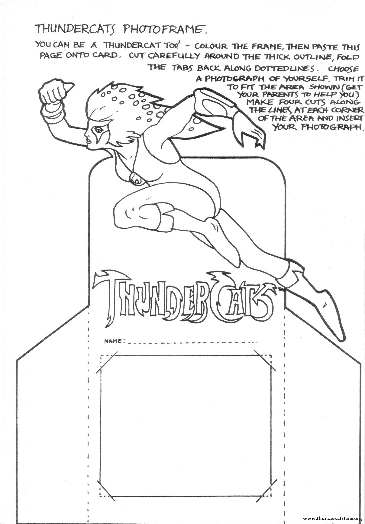 sponge fog maze photo frame - Thundercats Coloring Pages