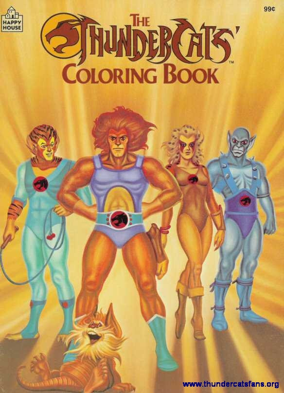 thundercats coloring book 1986 - Thunder Cats Coloring Book Pages