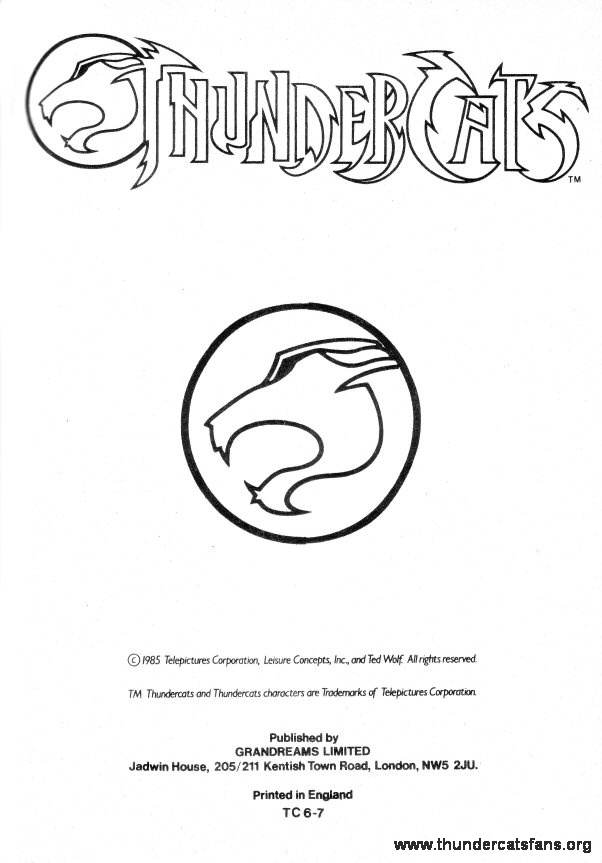 thundercatsfansorg memorabilia comics annuals magazines coloring books story books programs encyclopedia character sheets art elements - Thundercats Coloring Pages To Print