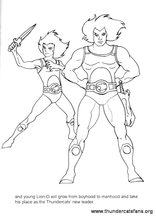 click on the thumbnails below and a larger printable version will pop up in a new browser window print it out for coloring fun - Thundercats Coloring Pages To Print